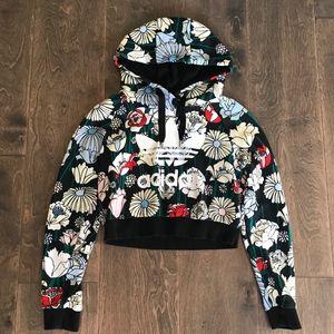 Adidas Cropped Hoodie Multi